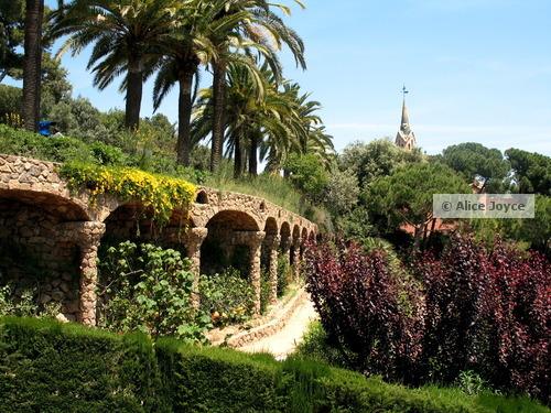 barcelona spain parks guell gaudi ciutadella