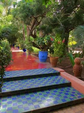 Jardin Majorelle Tiled Steps